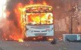Quatro ônibus são incendiados