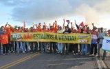 Petroleiros protestam em Entre Rios