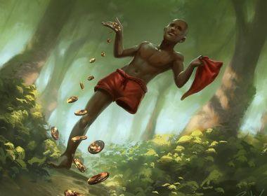 Livro com RPG e folclore