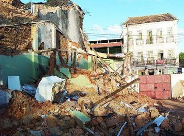 Ipac autoriza retirada de escombros de casa que desabou na Ladeira da Soledade