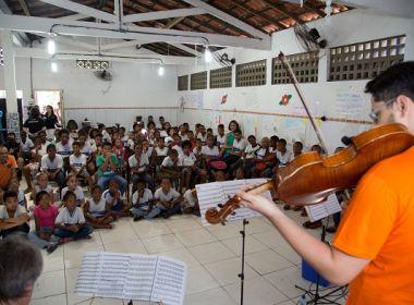 Escolas públicas de Salvador recebem concertos interativos para crianças