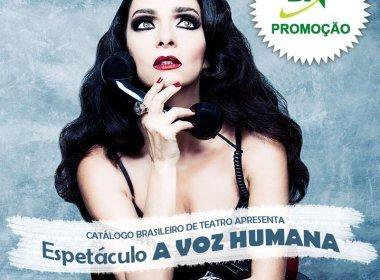 Resultado da promoção: concorra a ingressos para peça de Cláudia Ohana em Salvador