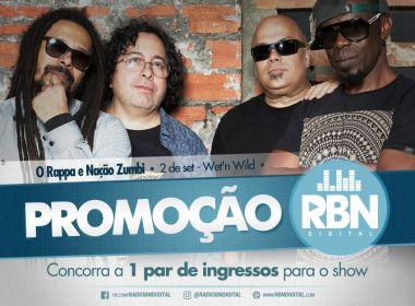 RBN sorteia par de ingressos pra show d'O Rappa em Salvador