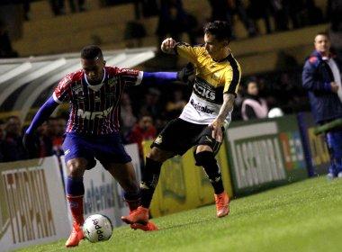 Em jogo movimentado, Bahia perde para o Criciúma no Heriberto Hülse