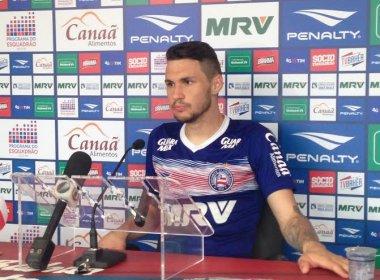 Recém-chegado, Tiago comete gafe e confunde Bahia com o Vitória em entrevista