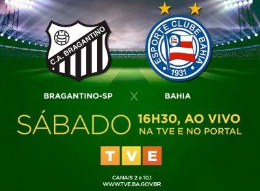 TVE Bahia transmite confronto entre Bragantino e Bahia