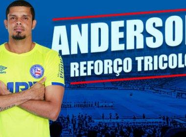 Para repor saída, Bahia anuncia a contratação do goleiro Anderson