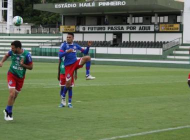 Com visita ilustre, Bahia encerra preparação para enfrentar o Vila Nova
