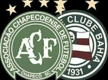 Bahia manifesta apoio à Chapecoense e cancela foto oficial dos atletas