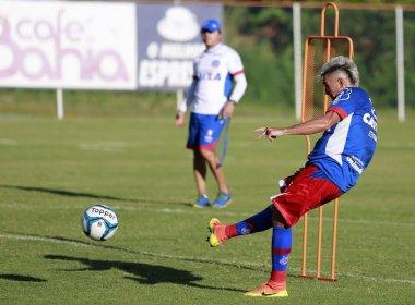 No Fazendão, trabalho com bola marca tarde de treinamento do Bahia