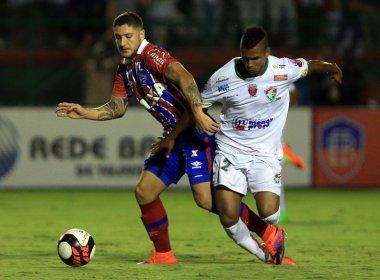 Em jogo movimentado, Bahia e Fluminense de Feira empatam em 1 a 1 no Joia da Princesa