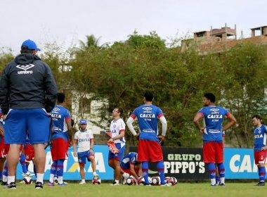 Em dois períodos, Bahia segue preparação para enfrentar o Galícia