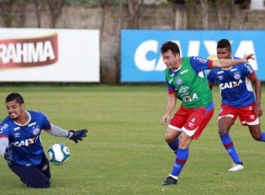 Bahia começa preparação para enfrentar o Fortaleza com vídeo, academia e treino técnico