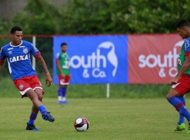 Com folga para os titulares, parte do elenco do Bahia treina no Fazendão