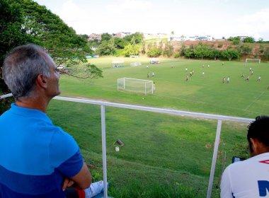 Técnico da Seleção sub-17, Amadeu visita o Fazendão e acompanha infantil do Bahia
