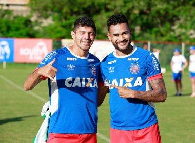 Edson e Jackson participam do primeiro treino do Bahia para o clássico Ba-Vi