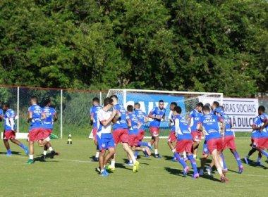 Com treino tático, Bahia finaliza preparação para 1ª semifinal da Copa do Nordeste