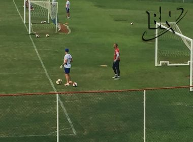 Próximo de ser anunciado pelo Bahia, goleiro Rafael Santos treina no Fazendão