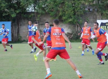 Com treino técnico, Bahia se prepara para estreia na Série A