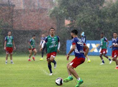 Com chuva no Fazendão, Bahia finaliza preparação para enfrentar o Atlético-PR