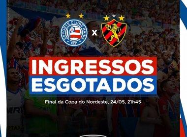 Copa do Nordeste: ingressos esgotados para a final entre Bahia e Sport
