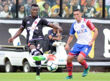 Com time misto, Bahia perde para o Vasco em São Januário