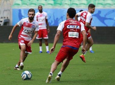 Parte tática e bolas paradas marcam último treino do Bahia antes da decisão