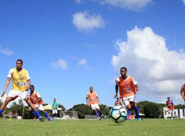 Bahia realiza último treino em Salvador antes de encarar o Grêmio