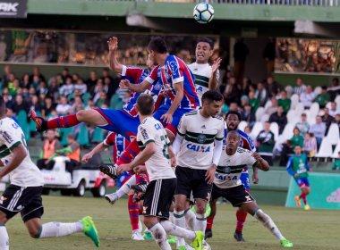 Em jogo truncado, Bahia empata com o Coritiba e conquista primeiro ponto fora