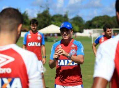 Em treino fechado, Bahia encerra preparação para pegar o Corinthians