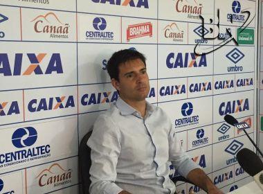 'Temos que nos fechar', afirma Diego Cerri sobre fase difícil do Bahia