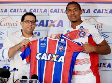 Filho de Belmonte, Rodrigão lembra antiga ligação com o Bahia em apresentação