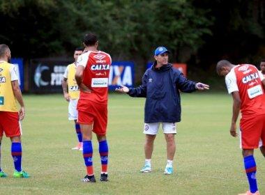 Sem Renê Júnior, Bahia faz mais um treino tático no Fazendão