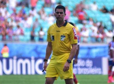 Flávio Rodrigues de Souza apita jogo entre Chapecoense e Bahia