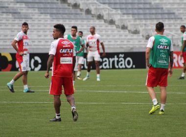 Na Arena da Baixada, Bahia finaliza preparação para enfrentar o Atlético-PR