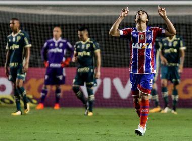 Bahia sai perdendo, martela e arranca empate no fim na estreia de Carpegiani