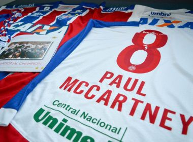 Bahia prepara kit do clube para receber Paul McCartney: 'A Bahia te espera'