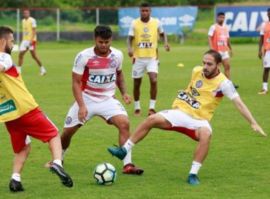 Com treino tático, Bahia encerra preparação para encarar o Santos