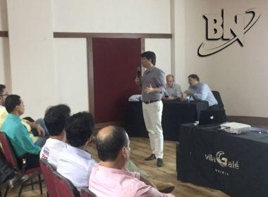 Guilherme Bellintani apresenta proposta para sócios do Bahia em reunião