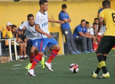 Com experiência na Copinha, Felipinho mostra confiança no Bahia: 'O time é bom'