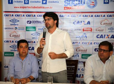 Presidente do Bahia cita dívida de R$ 200 milhões e pede que torcedores se associem