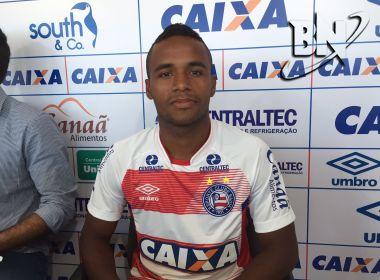 Em apresentação, Élber cita 'força da camisa' do Bahia e exalta torcida