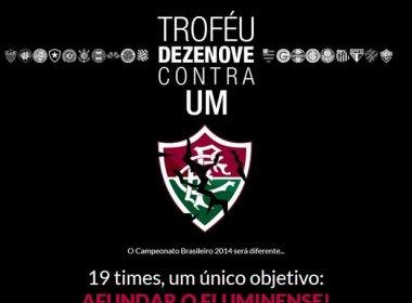 Torcida desenvolve 'Troféu 19 contra 1' para afundar Flu em 2014