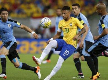 Brasil sai na frente, mas cede empate ao Uruguai na Arena Pernambuco