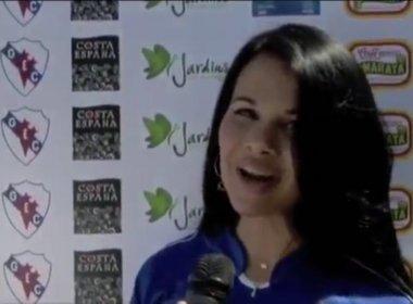 Primeira-dama do Turismo, Milena Santos já foi musa do Galícia em 2010