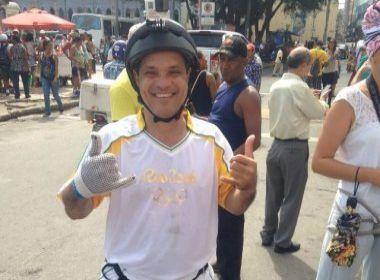 Tocha desce Elevador Lacerda de rapel: 'Sentimento de dever cumprido'