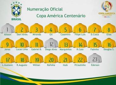CBF divulga numeração das camisas da Seleção para a Copa América Centenário