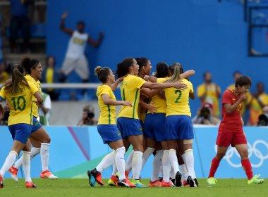 Rio 2016: Na estreia, seleção brasileira de futebol feminino vence a China