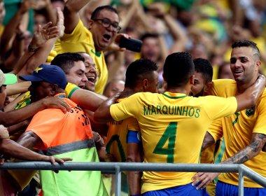 Arrasador, Brasil supera má fase, vence Dinamarca e se classifica na Olimpíada