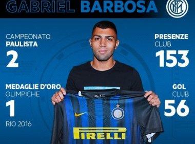 No dia do aniversário, Gabigol é oficializado pela Inter de Milão